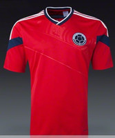 Wholesale Cheap Colombia Soccer Jersey Red Columbia World Cup Away Kit Top Mens Jerseys Brand Players Sportswear World Cup Collectibles