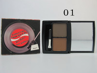 Wholesale 2014 New U S BENE Makeup Brand Double Color Eyebrow Powder Compact Five Classic Color Combination With Eyebrow Brush