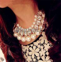 Wholesale Ladies Bib Choker Jewellery Pearl Necklace Pendant Statement Necklaces