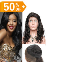 Wholesale AAAAA Grade Top Quality Hot Hair Body Wave quot quot Human Hair Brazilian Cheap Lace Front Wigs