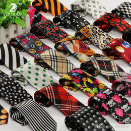 Wholesale New Cool Children boy Girl Floral Star Check Polka Dot Stripes Print Tie Necktie Wedding Neck Ties