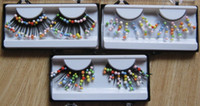 3 paires / lot couleur des perles cils Ruslana Korshunova personnalité esthétique maquillage faux cils étape mariage partie Livraison gratuite
