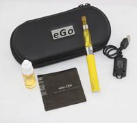 Wholesale CE4 eGo Starter Kit E Cig Electronic Cigarette Zipper Case package Single Kit mah mah mah Freeshipping