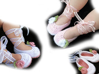 Summer baby cotton outlet - Ribbon shoelaces Flower crochet baby shoes toddler shoes Drop shipping shoes sale china shoes shoes shop OUTLETS pairs LQ