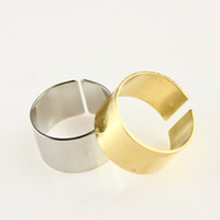 Band Rings South American Women's Cool Gold Silver Tone Punk Wide Band Ring Stack Plain Knuckle Midi Mid Rings NL026