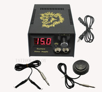 Power Plug   Wholesale - Hot Pro Digital LCD Tattoo Power Supply + Foot Petal + Clip cord For Tattoo Gun Needle Ink Grip Kits