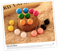 Wholesale Many colors candy stud earrings Girl s Earrings Fashion jewelry New jewelry Color randomly