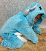 Wholesale Blue Elephant flannel pajamas cartoon leotard children of men and women going to the toilet Family Family fitted tracksuit