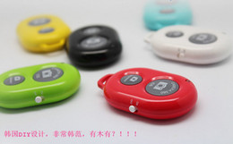 Wholesale wireless Bluetooth Remote photo Camera Control Self timer AB Shutter for iPhone S Galaxy S4 S5 Note3 M8 Android Smart phone