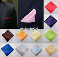 Wholesale Solid Retro Style Pocket Square Wedding Party Men s Handkerchief Colors T002