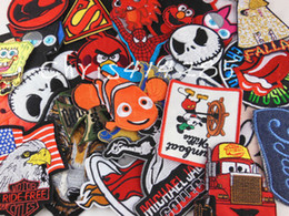 Wholesale Free shpping Embroidered patch Iron On Patches Mix pieces1piece style cartoon patch garment embroidery patches accessories