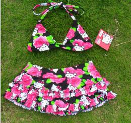 Wholesale 2014 Original Baby Girls Swimwear Cartoon KT Swimsuit Children s Bikini Princess Swimming Clothes