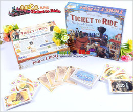 Wholesale MXZA Cards Adult Games Complete Ticket To Ride Railroad Board Game Cards version Days of Wonder Trains Fashion New