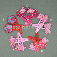 Wholesale Styles Peppa Pig Pepe pig Pink Romantic Pig Series BB Clip Hairpin Retail