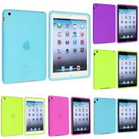 Protective Shell/Skin 7'' For Apple New 2014 Premium Silicone Protective Case Shell for iPad mini Wholesale Kids Case Cover for iPadBest tablet Case Cheap Worth
