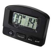 Wholesale Black Mini LCD Digital Kitchen Cooking Display Timer Count Up Down Magnetic Electronic Alarm Clock dandys