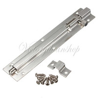 Wholesale mm Door Gate Bathroom Toilet Shed Slide Lock Catch Latch Stainless Steel With Screws dandys