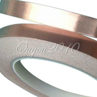 Wholesale Guitar Pickup Copper Foil mm x M EMI Shielding Screening Tape Panel Adhesive dandys