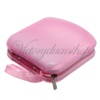 Wholesale Fashion Disc Music CD VCD DVD Disk Protect Storage Case Holder Carry Bag Wallet Organizer Pink