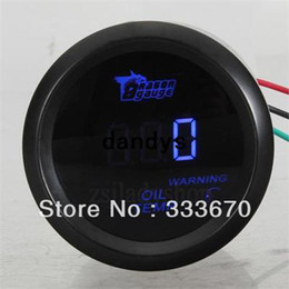Wholesale UNIVERSAL quot mm Blue LED Digital OIL TEMP TEMPERATURE GAUGE METER CAR MOTOR dandys