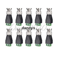 cable connector - 10pcs CAT5 To Coax Coaxial Camera CCTV TV Video BNC Balun Cable Connector adapter dandys