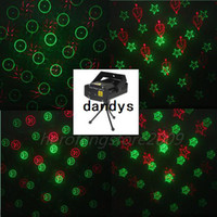 Wholesale Mini Voice Control R amp G Red amp Green Laser Light Lighting Projector DJ Disco Stage Xmas Party Show Star Club Bar dandys
