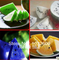 Tree Seeds Bonsai Outdoor Plants Mix Colors 100 Seeds Watermelon Red Whte Yellow Green Blue Watermelon Seeds For Home Garden Bonsai Fruit FTF005