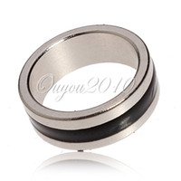 Wholesale 3 Sizes Black Silver Black Powerful Magnetic Finger Magic PK Jewelry Ring Magnet Strong Trick Handing Necklace Decoration dandys