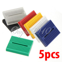 Wholesale 5pcs Mini Solderless Prototype Experiment Test Breadboard Tie points for Arduino Shield dandys