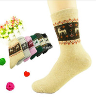 Wholesale 20pair Women Sock Winter Warm Woolen Rabbit Wool Socks Knee High Mid tube Merino Socks