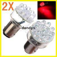 auto led tail lamp - 2pcs BAY15D LED Car Auto Brake Turn Tail Signal Light Lamp Bulb DC V Red dandys