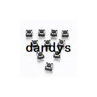 Cheap Free Shipping 10 pcs Lot 6 X 6 X 4.3mm 4 pin DIP Momentary Tactile Touch Tact Push Button Switch Home Wholesale,dandys