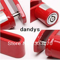 Cable Locks Red 100% New Red Motorcycle Scooter Electric Bike Bicycle Disc Brake Wheel Lock Safe Pin 5.25mm Free Shipping,dandys