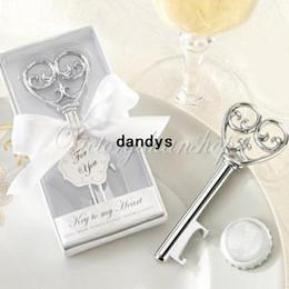 Wholesale Stainless Steel Elegant Heart Key Shaped Beer Drink Bottle Cap Opener Remover Party Bar Pub Wedding Favors Gifts dandys