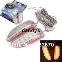 Wholesale 2x Soft LED Car Auto Side Door Mirror Light Indicator Turn Signals V Yellow Blue Colors dandys