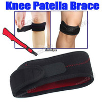 Wholesale 2pcs Adjustable Outdoor Sports Gym Patella Tendon Knee Support Brace Pad Velcro Strap Band Protector dandys