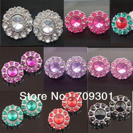 Wholesale 21mm Crystal Button with Shank Plastic Rhinestone rhinestone buttons