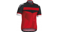 Wholesale Red Black Men Cycling Shirts Breathable Wicking Anti Bacterial Treatment Short sleeves Cycling Suits Men s Biking Jersey Cycling Tops