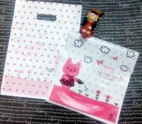 Wholesale Cute Cartoon Bunny gardening Plastic Gift bag Jewerly merchandise bag cm