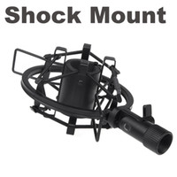 Wholesale Microphone Shock Mount Clip Holder for mm Diameter Pencil Condenser Mic Black