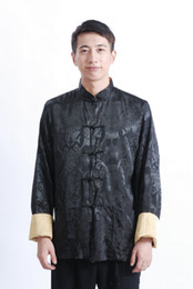Shanghai Story Long Sleeve Chinese Traditional ethnic clothing Black Yellow Two-sides wear tang suit mandarin collar jacket taiji Clothing