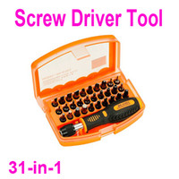 Screwdriver Set Slotted H9705 Professional 31-in-1 Interchangeable Versatile Hardware Screw Driver Tool Kit with Carry Box Free Shipping wholesale