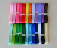 Wholesale Yard mm Grosgrain ribbon White dot Mix colors DIY ribbon You pick color RB1008