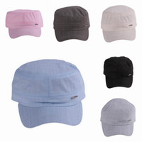 Wholesale Brand New Unisex Cotton Army Hats Outdoor Soft Flat Travel Caps Street Hats Colors Choose EAC