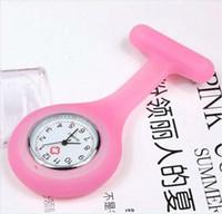 Wholesale EMS round nurse watch doctor watch silicone rubber pocket wach soft watch K07745