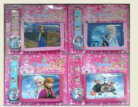 Wholesale Hot sale new Frozen Wristwatch watch and Purses Wallets Children Gifts