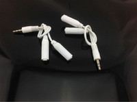 Wholesale 2000pcs Free DHL Fedex New mm Earphone Male To Female Audio Splitter Connecter Cord Cable for iphone s s c
