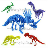 Wholesale 5PCS Foam dinosaur puzzles Foam animal puzzle Kids toys Early ducatonal toys Birthday gift Kids party favor design