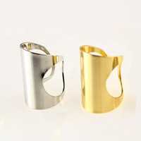 Wholesale Punk Wide Band Ring Silver Gold Tone Stack Plain Knuckle Midi Mid Rings Set NL027