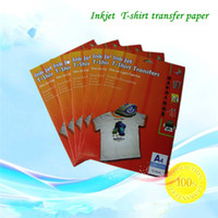 Wholesale A4 Just For Inkjet Heat Iron On Transfer Paper Iron on Themal Transfer For Fabric T shirt